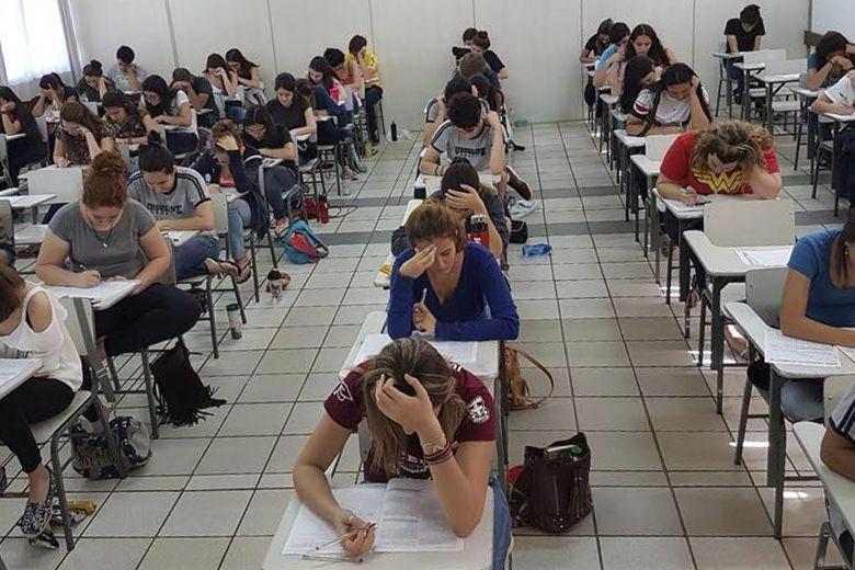 Os alunos da 3° série do Médio realizaram no último fim de semana o Simulado FUVEST