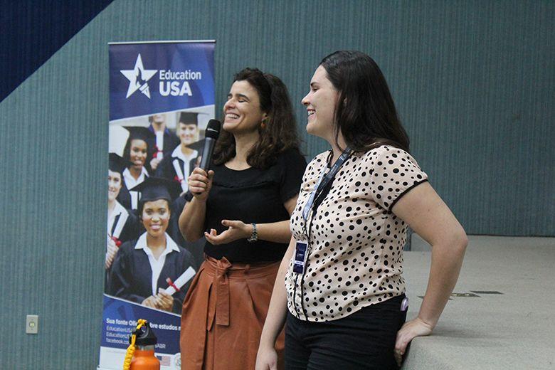 Oportunidade no exterior: o ingresso em universidades norte-americanas foi tema de palestra para o Ensino Médio