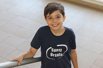 Allan Vieira, do 6º ano, conquistou o 3º lugar em avaliação nacional do SAS