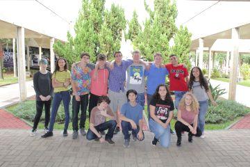 Intercambistas de Crestone fizeram um tour para conhecer o Colégio Santa Úrsula