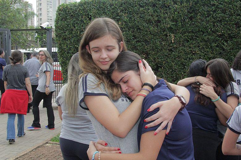 A delegação da Ursuline Academy of Dallas, escola irmã do Colégio Santa Úrsula, se despede do Brasil