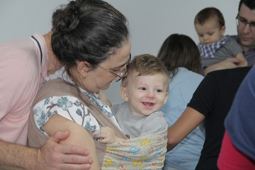 Veja as fotos da terça-feira (07) na Semana da Família com os pais do Berçário