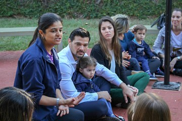 A quinta-feira foi movimentada com as famílias do Berçário