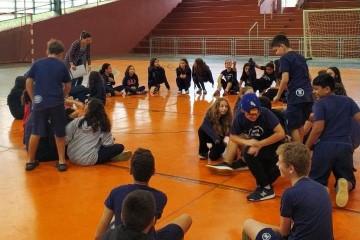 Alunos do 6º ano participaram de uma aula interdisciplinar de matemática e educação física