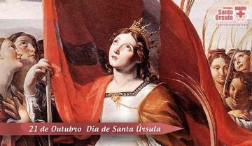 Hoje, dia 21 de outubro, é celebrado o dia de Santa Úrsula, padroeira do nosso colégio