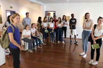 Alunos da França visitam o Museu Casa de Portinari, em Brodowski