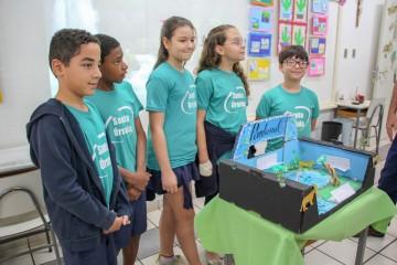 Os 4ºs anos realizaram uma feira sobre a preservação dos biomas brasileiros
