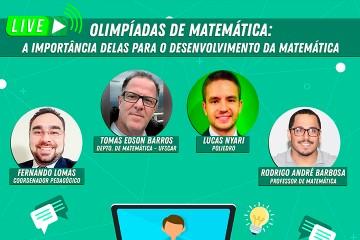 Live do Colégio Santa Úrsula discute importância das Olimpíadas para o ensino da Matemática