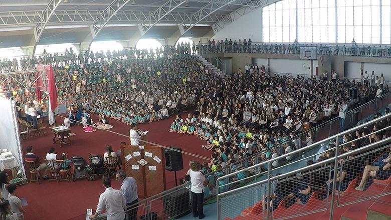A missa de Santa Úrsula, o evento mais importante do colégio, aconteceu hoje