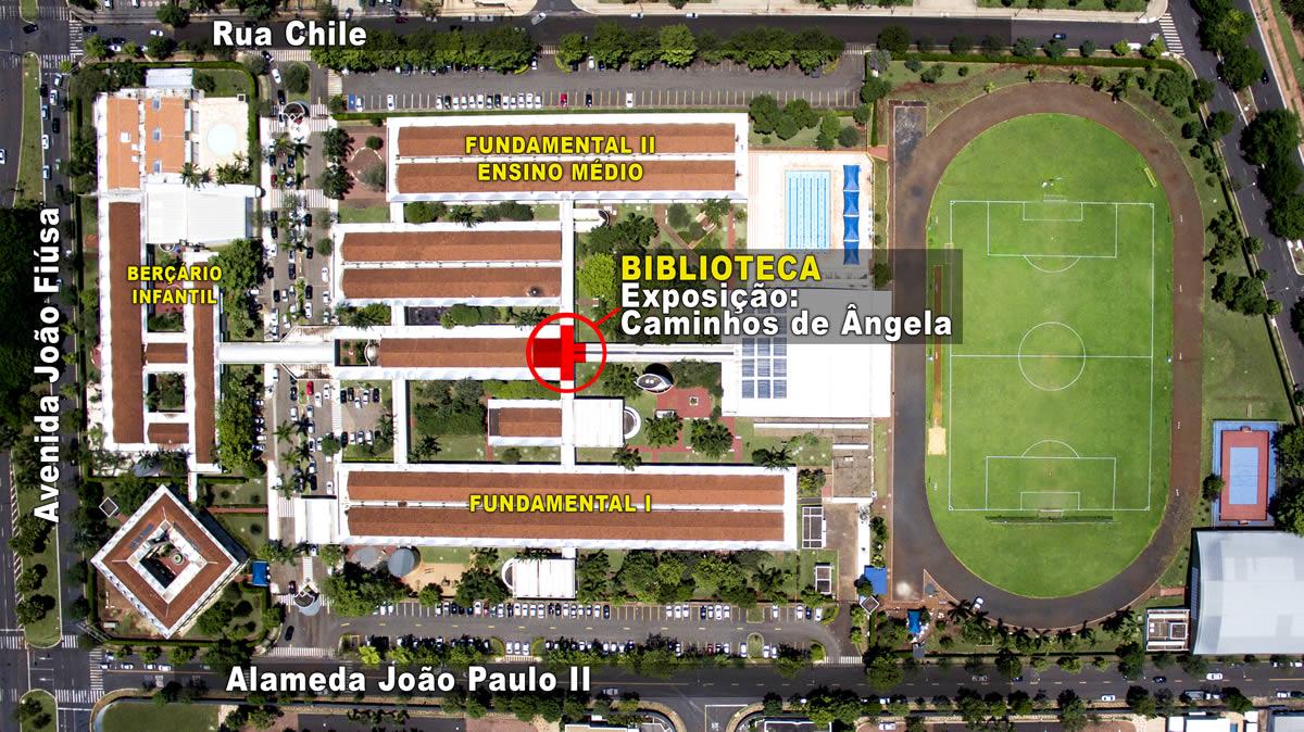 Mapa de localização: Biblioteca